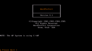 Wordperfect 4.1